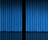Behind The Blue Curtain — Stock Photo