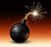 Bomb Exploding — Stock Photo