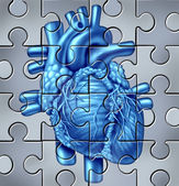 Human Heart Puzzle — Stock Photo
