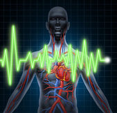 ECG and EKG Cardiovascular System — Stock Photo