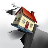 Falling Real Estate — Stock Photo