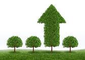 Finanční růst úspěch — Stock fotografie
