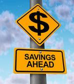 Einsparungen voraus — Stockfoto
