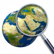 Planet Earth Middle East Crisis — Stock Photo #8861292