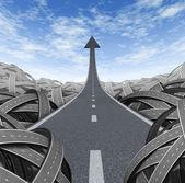 Camino de éxito — Foto de Stock