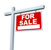 Estate Sign For Sale Sign — Stock Photo