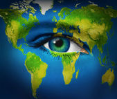 Human Eye Earth Planet — Stock Photo