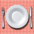 Family Restaurant Place Setting — ストック写真