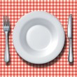 Family Restaurant Place Setting - Stock Photo