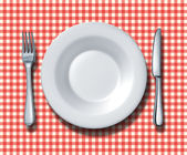 Family Restaurant Place Setting — Stock Photo