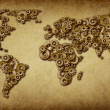 International Economy Old Map - Stock Photo