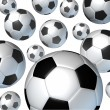 Flying Soccer Balls — Stock Photo