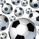 Flying Soccer Balls — Stock Photo