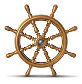 Boat Steering Wheel — Stock Photo