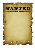 Old Western Wanted Poster — 图库照片