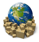 Global Package Delivery — Stock Photo