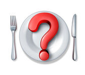 Food questions — Stock Photo