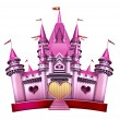 Pink Princess Castle — 图库照片