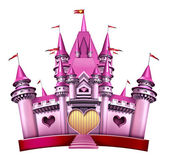 Pink Princess Castle — Stock Photo