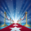 Red Carpet To Movie Stars - Stock Photo