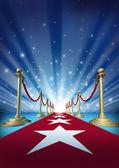 красный ковер для звезд кино — Стоковое фото