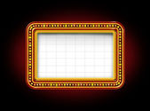 Theater Marquee Sign — Stock Photo