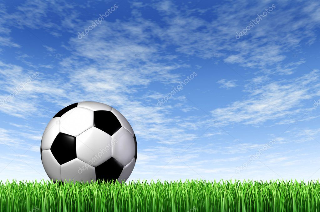 Soccer Ball and grass ...
