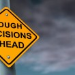 Difficult And Tough Decisions — Stock Photo