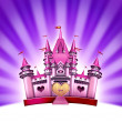 Pink Girl Castle — Stockfoto
