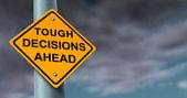 Décisions difficiles et dures — Photo