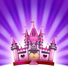 Pink Girl Castle — Stock Photo