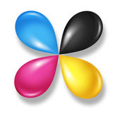 Cmyk Flower icon — Stock Photo