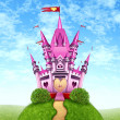 Magical Pink Castle — 图库照片