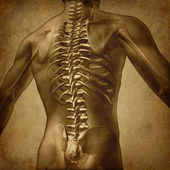 人类背 grunge 纹理 — 图库照片