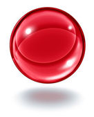 Red Crystal Ball — Stock Photo