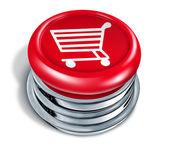 Shopping Button — Stock Photo
