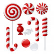 Stock Vector: Delicious lollipop collection