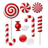 Delicious lollipop collection — Stock Vector