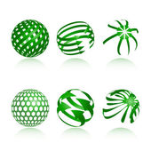 Sphere Design Elements — Stock Vector
