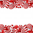 Stock Vector: Frame made of red and white candies