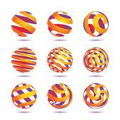 Sphere Design Elements — Stock Vector