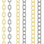 Metalik zinciri — Stok Vektör