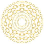 Gold circle chains — Stock Vector