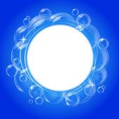 Blue bubble vector background — Stock Vector