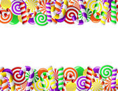 Frame made of colorful candies — Stock Vector