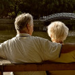 Retired couple relaxing — Stock fotografie