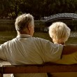 Retired couple relaxing — Stock Photo
