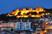 Castle of Sao Jorge, Lisbon night view — Stock Photo