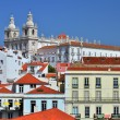 Royalty-Free Stock Photo: Alfama and Sao Vicente de Fora monastery, old Lisbon