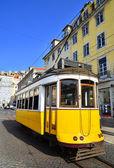 Yellow Tram, Lisbon — Stock fotografie